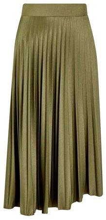 **DP Tall Khaki Pleated Skirt