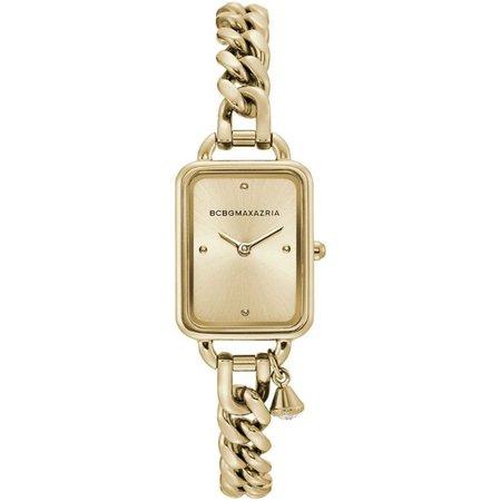 BCBGMAXAZRIA - Women's BCBGMAXAZRIA Charm Bracelet Gold Tone steel BCBG Watch BG50845003 - Walmart.com - Walmart.com