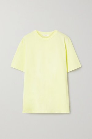 Darciela Cotton-jersey T-shirt - Pastel yellow