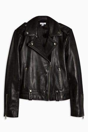 Real Leather Biker Jacket | Topshop