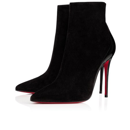 Delicotte 100 Black Suede/ Patent Leather - Women Shoes - Christian Louboutin