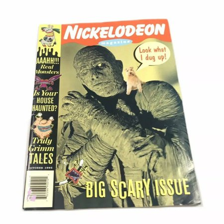 Title:Nickelodeon Magazine Big Scary Issue AAAHH!!!... - Depop