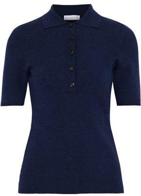 Brushed Stretch-knit Polo Shirt
