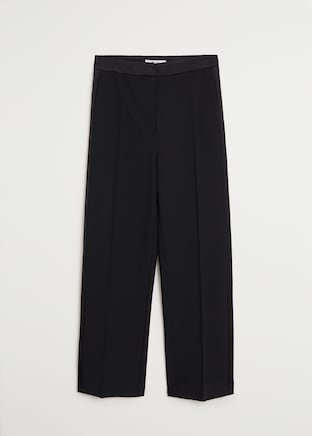 Straight suit trousers - Women   Mango USA black
