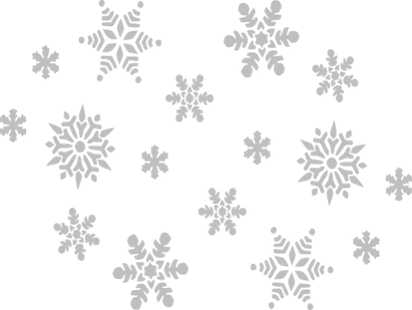 Gray Snowflakes Clip Art at Clker - Clip Art Library