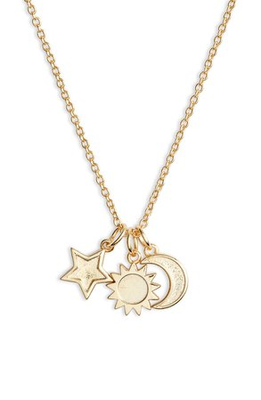 Sterling Forever Charm Pendant Necklace | Nordstrom