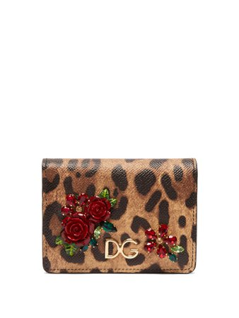 Leopard print Dauphine leather wallet | Dolce & Gabbana | MATCHESFASHION.COM US