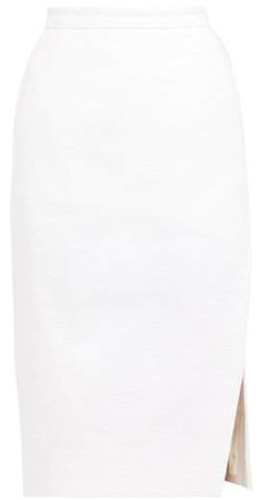 Lancaster High Rise Tweed Pencil Skirt - Womens - White