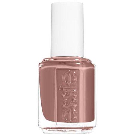 clothing optional - light sienna brown nail polish & color - essie