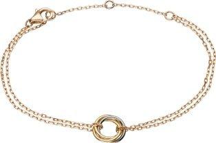 Trinity bracelet White gold, yellow gold, pink gold