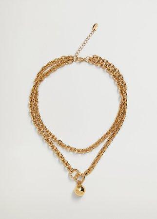 Bead chain necklace - Women   Mango USA