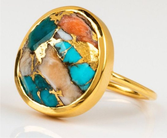 gold oyster ring