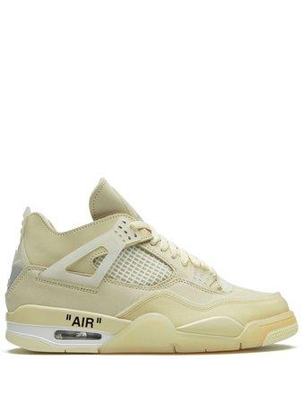 Nike X Off-White Air Jordan 4 off-white Sail Sneakers - Farfetch