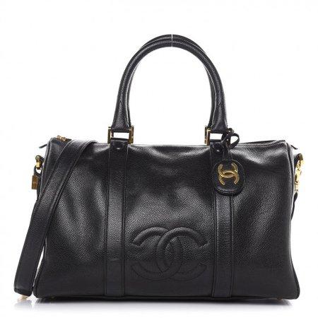 CHANEL Caviar Timeless CC Duffel Bag Black 462433