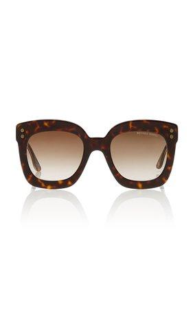 Tortoiseshell Square-Frame Acetate Sunglasses by Bottega Veneta | Moda Operandi