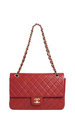 chanel classic flap red