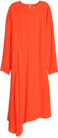 Asymmetric Dress - Orange