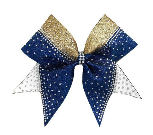 cheer bows blue gold and white - Google Search
