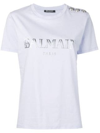 Balmain Logo Print T-shirt - Farfetch