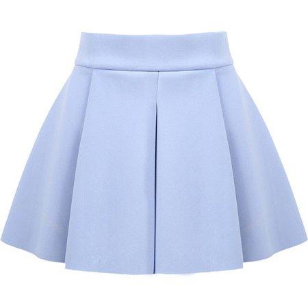 blue flare skirt