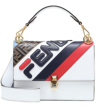 FENDI MANIA Kan I leather shoulder bag