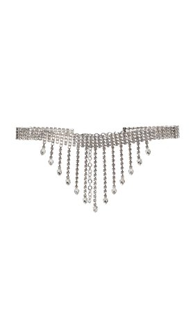 Fringed Crystal-Embellished Belt by Alessandra Rich | Moda Operandi