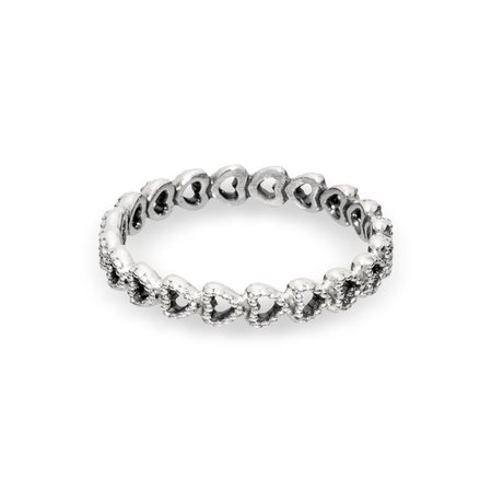 Linked Love Ring in Sterling Silver | Silver | Pandora US