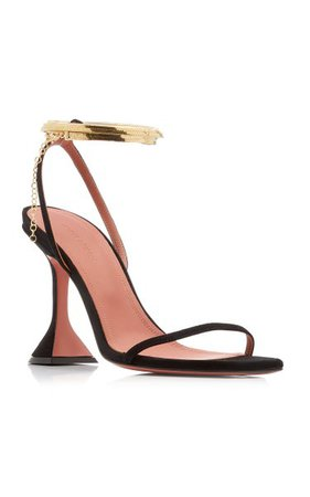 Henson Leather Sandals By Amina Muaddi | Moda Operandi