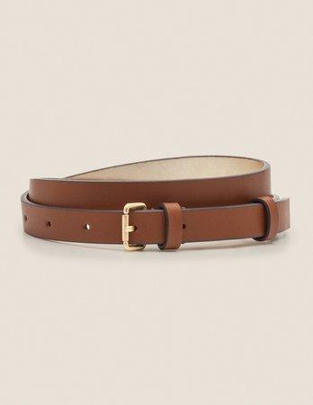 Skinny Buckle Belt - Tan | Boden US