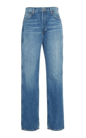 Re/done High-Rise Straight-Leg Jeans Size: 25