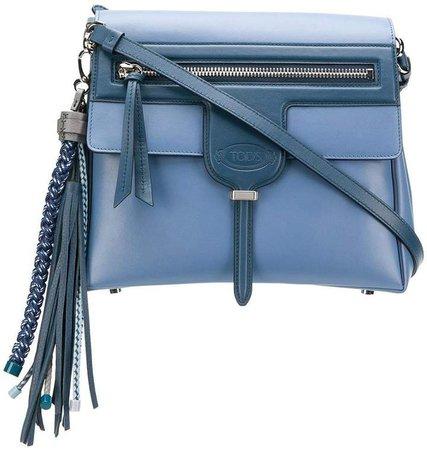 tassel flap shoulder bag