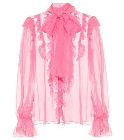 Ruffled Silk-Chiffon Blouse - Dolce & Gabbana   Mytheresa