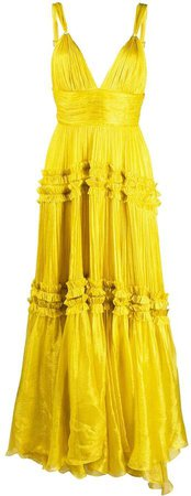 Tiered Ruffle Trim Gown