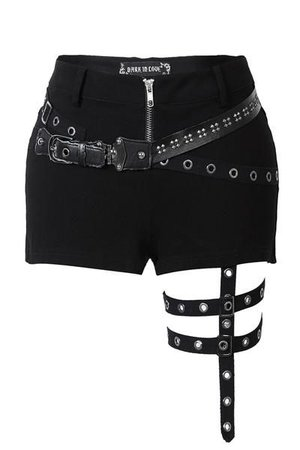 PW085 Punk rivet shorts with surround thigh design ($59)