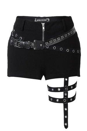 PW085 Punk rivet shorts with surround thigh design ($59)
