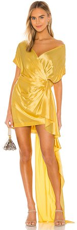 Wide Neck Wrap Mini Dress