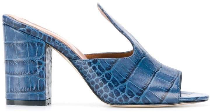 crocodile print sandals