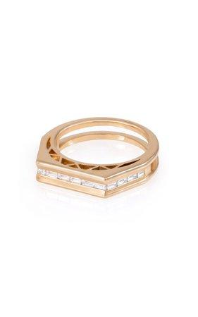The Tania Bling 18k Yellow Gold Diamond Ring By L'atelier Nawbar | Moda Operandi