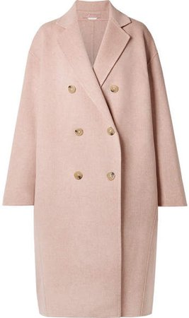 Odethe Oversized Wool And Cashmere-blend Coat - Pastel pink