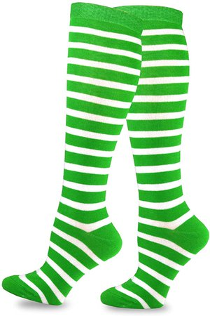 TeeHee St. Patricks Day Cotton Knee High Socks for Women 3-Pack (Irish) at Amazon Women's Clothing store