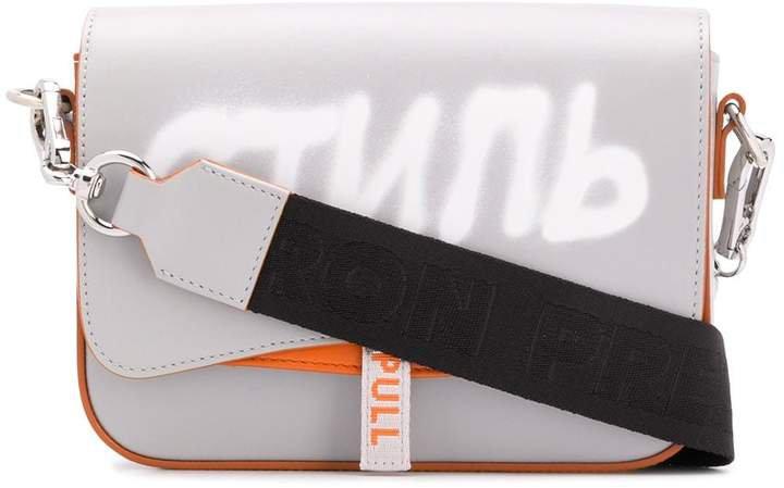 logo-print shoulder bag