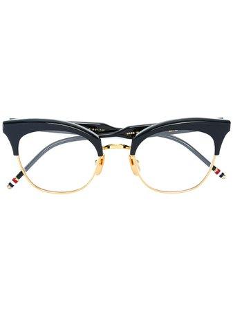 Thom Browne Eyewear Cat Eye Shaped Frames Continuity | Farfetch.Com