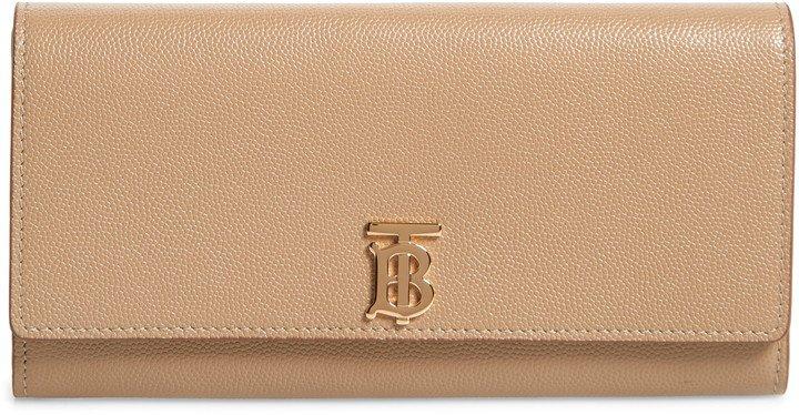 Monogram Motif Grainy Leather Continental Wallet