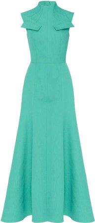 Emilia Wickstead Iago Pleated Cady Dress
