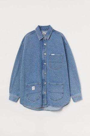 Denim Shirt Jacket - Blue