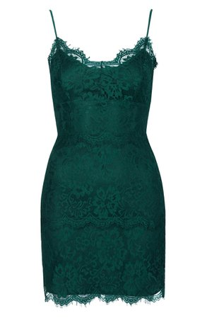 *clipped by @luci-her* Topshop Lace Body-Con Slipdress