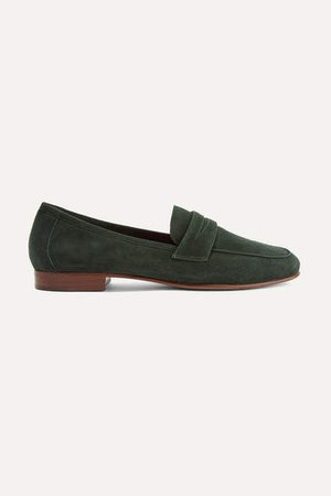 Classic Suede Loafers - Emerald