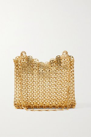 Gold Animations 1969 chainmail shoulder bag   Paco Rabanne   NET-A-PORTER