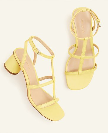 Holland Leather Block Heel Sandals | Ann Taylor