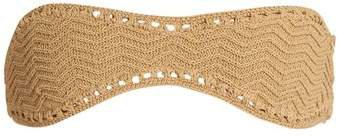 Laharia Crochet Bandeau Bikini Top - Womens - Beige